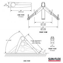 SUN-FLEX®GravityStand: Art.no. 100122 SUN-FLEX®GravityStand, measurement table
