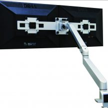 SUN-FLEX®Monitorarm III: SUN-FLEX®Dual screen rail, silver